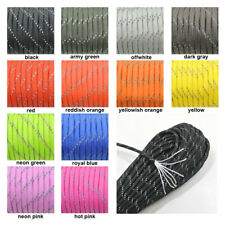 (10-100FT) Light Reflecting 7-Strand 550lb Paracord Ropes for Survival Bracelets