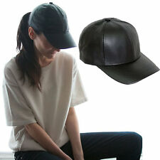 Sporty Chic Leather Cap
