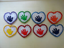 Super Cute crochet heart with hand Embellishment for scrapbook & Card making