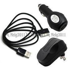"USB Cable+Car+AC Wall Charger for Samsung Galaxy Tab 2 10.1"" SPH-P500 SCH-I915"
