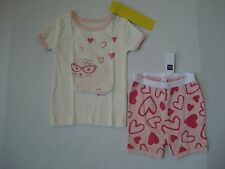 BABY GAP Girl's White and Pink Bunny Pajamas Size 18-24 mos,2T,3T NWT