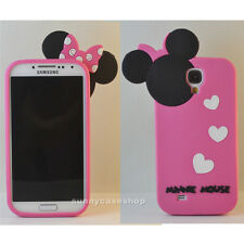 Cute lovely minnie mouse polka silicone soft case for samsung GalaxyS4 SIV I9500