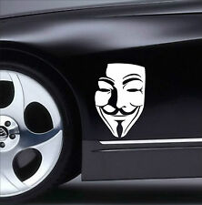 V for VENDETTA Anonymous Mask Guy Guido Fawkes decal sticker vinyl wall art V4