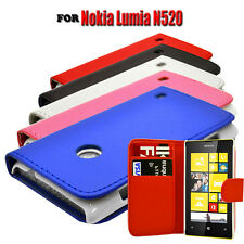PU LEATHER WALLET BOOK FLIP MOBILE PHONE CASE COVER FOR NOKIA LUMIA N520 520