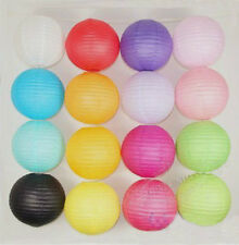 6'' 8'' 12'' Multi-Color paper Lanterns Lamp for Wedding Home Party Decorations