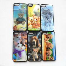 1 Pc Lovely Dog Cat Animal 3D Flash Effect Hard Case Cover Skin for iPhone 5