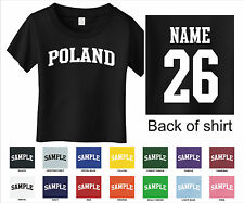 Country of Poland Custom Personalized Name & Number Infant or Toddler T-shirt
