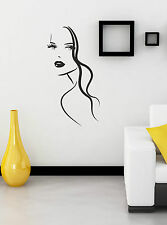Fashion Woman Girl Face vinyl decal sticker wall art home saloon decoration W3