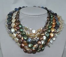 Genuine 12 style 10-15mm heart butter coin star pearl necklace