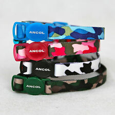 Ancol Camouflage Print Cat collar,kitten Collar,Ancol Safety collar with bell