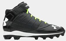 Under Armour Mens UA Crusher Mid Football Cleats BLACK 1235876