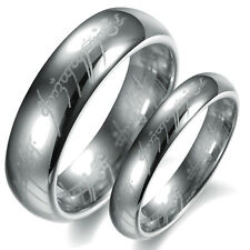The Lord Of The Rings Silver Pure Tungsten Steel Rings Bands Couple Love Gifts