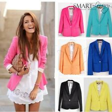 RRP$109 European Ladies Fitted Tailored Blazer Slim Jacket - Colours XS-XL 6-14