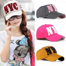 2013 Woman Boy Girl's baseball Cap Distressed hats NYC Letters 11Colors H02
