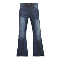 MENS FLARE / BOOT CUT JEANS IN LIGHT/RINSE/INDIGO WASH (LEON)