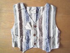 KIDS COOL BOY STRIPED PATTERN LINEN WAIST COAT/TOP 1-15 YEARS,100% COTTON