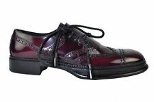 DOLCE & GABBANA RUNWAY Shoes Bordeaux Red Chaussures Rouge 01577