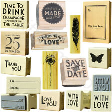 East Of India Rubber Stamps Party Wedding Heart Craft Gift Heart Card Name Tags