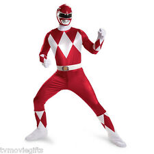 POWER RANGERS SUPER DELUXE ADULT RED RANGER COSTUME XL / XXL LICENSED #55616