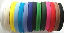 "COTTON BIAS BINDING TAPE (5/8"") 16MM BUNTING VARIOUS COLOURS FULL 33 METRE REEL"