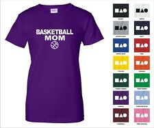 Basketball Mom Sports Court Free Throw Foul Shot 3 Pointer Funny Woman's T-shirt