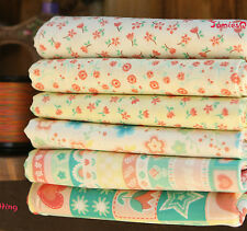 Pastel Flower Land Quilting Sewing Fabric 6 Different Pattern  Cotton100%1/2Yard