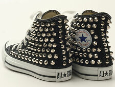 Genuine Converse All Star Spike Studded with Silver studs