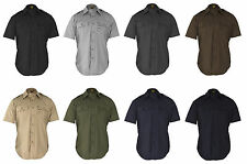 PROPPER MILITARY TACTICAL DRESS SHIRT RIPSTOP- SHORT SLEEVE POLY/COTTON- F5301