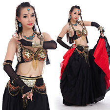 New Belly Dance Costume Tribal Clothing  2 Pics Bra & Belt 32-34B/C 2 colours