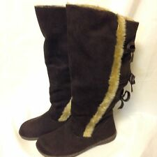 CL by Chinese Laundry Magnifique Dark Brown Faux Fur Boot  New in Box