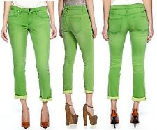 Jessica Simpson Forever Roll Cuff Skinny Jean - Online Lime Green - MSRP $59