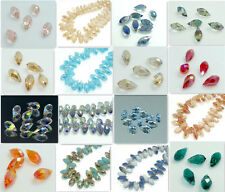 25PCS variety of color #6010 Teardrop CRYSTAL  BEADS 12*6MM