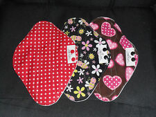 "Cloth Menstrual Mama Pad 10"" Regular *with or w/out PUL* U pick fabric*"