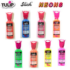 Tulip Slick NEONS 3D dimensional fabric paint 37ml - *same low p+p any quantity