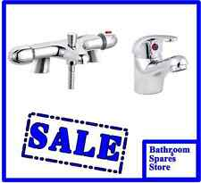 Thermostatic Bath Shower Mixer Tap And Basin Tap Clicker Waste And Deluxe Slider