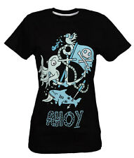 Cosmic Ahoy Skinny Fit T-Shirt Emo,Teen,Bright,Funky,Cute, Nautical,Anchor