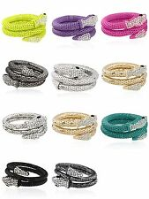 Punk Snake Alloy Rhinestone Crystal Multi Layer Cuff Bangle Bracelet Jewelry Hot
