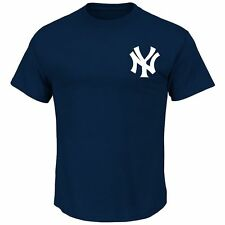 New York Yankees Majestic Navy Blue Jersey T-Shirt