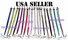Wholesale Bulk Lot Rhinestone Bling Crystal Breakaway Lanyard ID Badge Holder