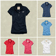 NWT HOLLISTER  WOMEN'S POLO'S SHIRTS blue,green,pink,red,white SIZES XS, S, M, L