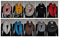 (11colors) New Fashion HAND MADE knit crochet shimmer infinity circle loop scarf