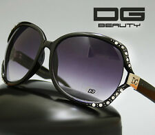 Butterfly Style Women Sunglasses in Black or Brown Rhinestones New DG Fashion