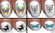 NAIL DECALS MIX BUTTERFLIES OWLS CHILDRENS NAIL ART CARTOON NAILS NAIL WRAPS