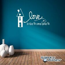 Love Is Nice To Come Home To Vinyl Wall Decal Quote home decor art sticker L028