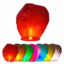 5/10/20/30 Mix Color Chinese Sky Fire Lanterns Fly Wishing Class Reunion Party