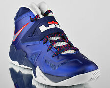 Nike Zoom Soldier VII 7 Deep Royal Blue Pure Platinum mens basketball shoes NEW