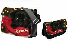 Personalised Pug Dog School College Bag & Pencil Case Set, Ideal Gift for School