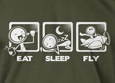 V4 Eat Sleep Fly T-shirt Flying Pilot Father's Day Mens Ladies Funny Geek shirt