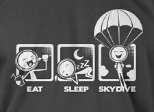 V4 Eat Sleep Skydive T-shirt Mens Ladies Funny Sky Diving Parachute Geek shirt