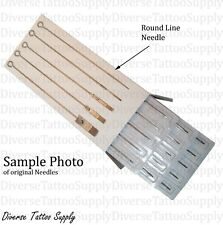 50 Disposable Sterile Tattoo Needles Round Liner Kit